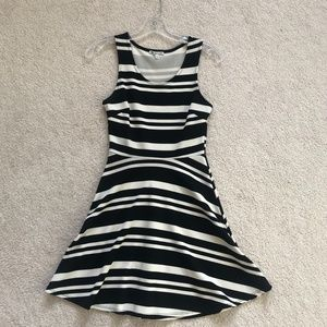 Charlotte Russe Fit-and-Flare Striped Dress